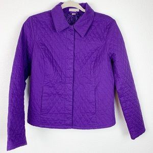 Nordstrom Quilted Button Up Jacket Med